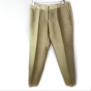 J. Crew Collection Gold Silk Wool Ankle Pants
